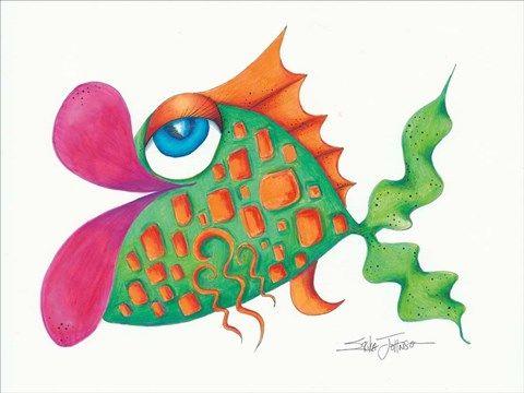 Flamboyant Fish Iii By Erika Johnson Fish Art Beach Drawing
