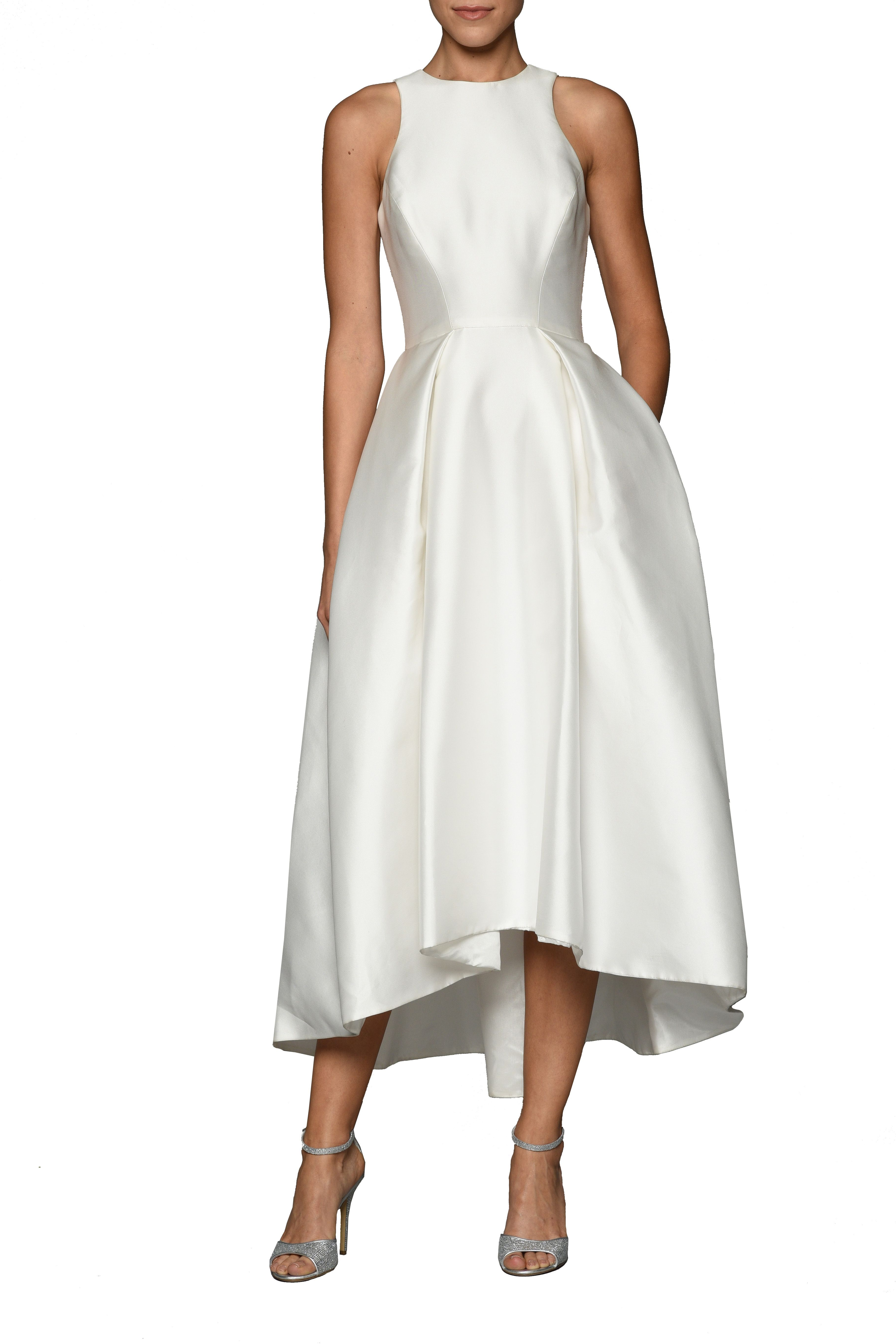 Zelda Main Formal Wedding Dressesbridesmaid Dressesrehearsal Dinner Dressestea Length Dressesmonique Lhuillierzeldaelopementswedding