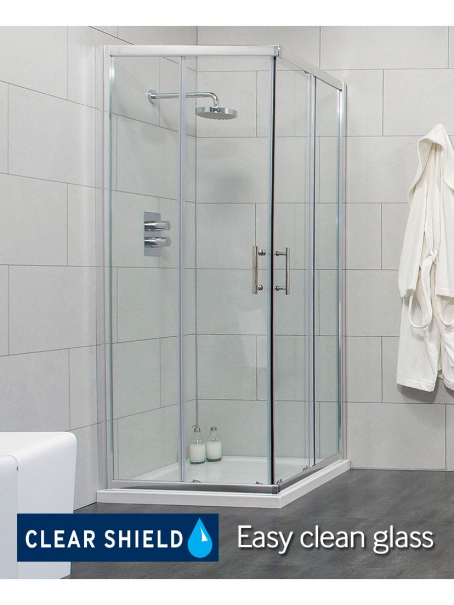 Cello 800 Corner Entry Shower Enclosure Adjustment 765 790mm Bagno