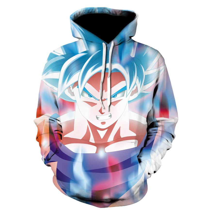 Anime Dragon Ball Super Saiyan Pullover Hoodies 3d Print Sweatshirts Joker Avengers Teenager Costume Jacket Coat Streetwear 100% High Quality Materials Hoodies & Sweatshirts
