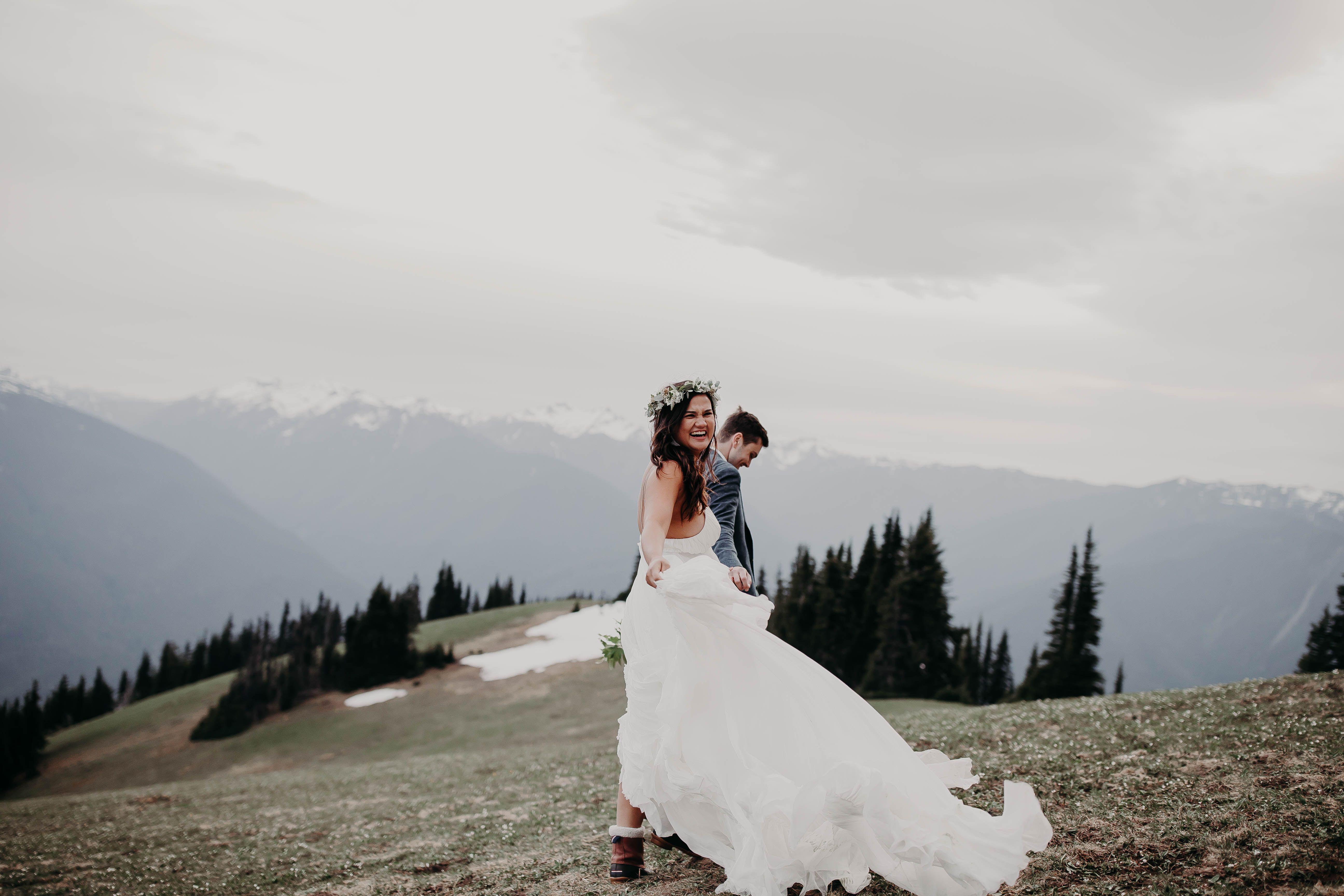 Mountain Engagement Elopement Washington Wedding Portland Spontaneous Boho