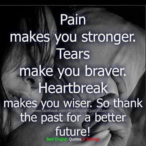 Heart breaks make you stronger