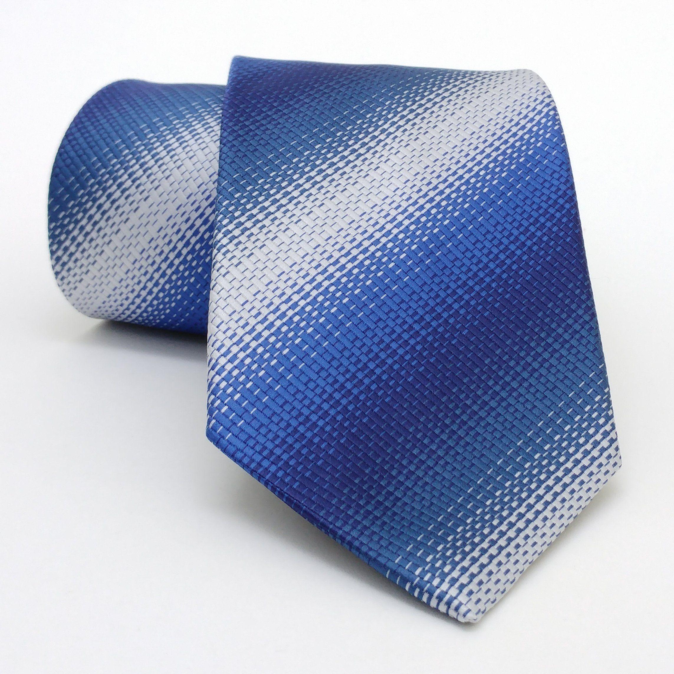 "Dark blue, sax blue, grey dotted men's tie 8 cm (3,15"") DK-532. Dark blue, sax blue, grey dotted men's necktie DK-532 Width : 8 cm (3,15"") Length : 150 cm (59,06"")."