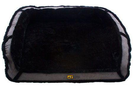 "Amazon.com : K9 Ballistics Orthopedic LUX Bolster Rectangle Bed Cream Fur/Blue Gray Micro - Medium (27""x33""x5"") : Pet Beds : Pet Supplies"