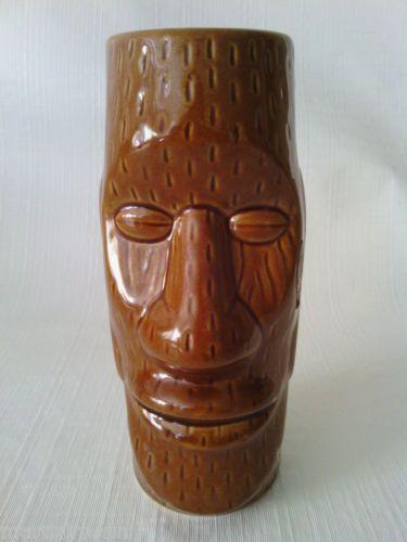 Hawaiian Easter Island Moai Head Tiki Mug DW128 6 1/2 inches