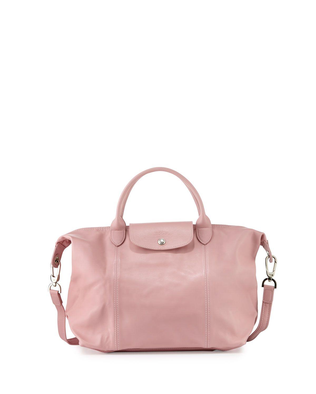 a58027734f10 Le Pliage Cuir Handbag with Strap, Girl - Longchamp   fashion