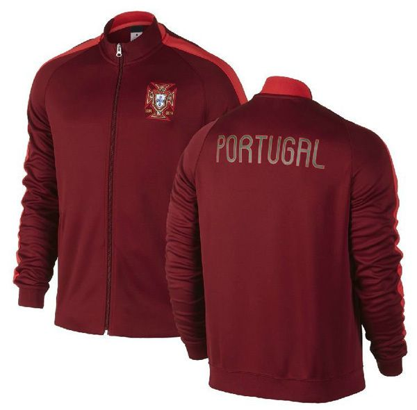 ee8b33a98 Top thailand Portugal N98 jackets soccer training coats Portugal tracksuits  Cristiano Ronaldo sportswear-in Sports Jerseys from Apparel & Ac..