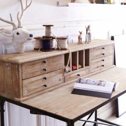 Secretaire En Pin Bureau Style Industriel Pas Cher Bureau Bois Meuble Bois Brut Mobilier De Salon