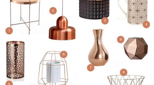 D co je veux du cuivre d coration pinterest cuivre tendance deco et le cuivre - Objet deco cuivre ...