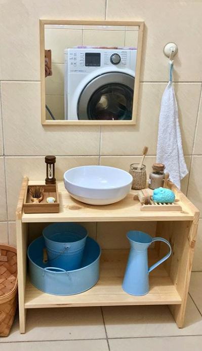 salle de bain lavabo enfant