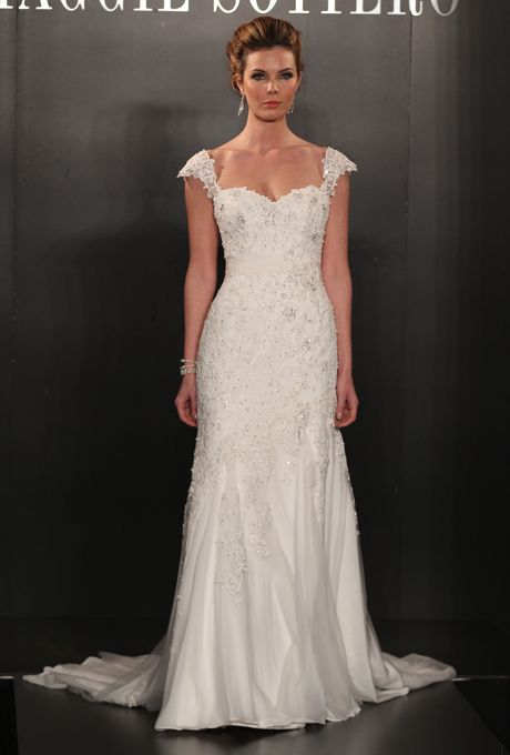 Maggie Sottero - Spring 2013 - Harmony Lace and Chiffon A-Line ...