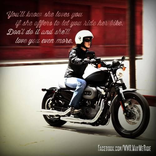 Pin By Robin On Motorcycles Female Motorcycle Riders Motorcycle Riding Quotes Biker Love