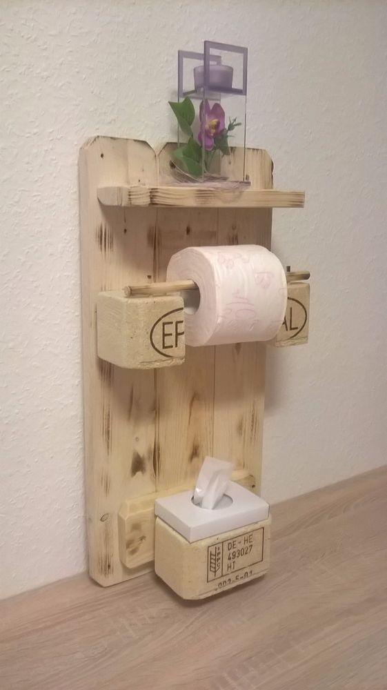Entzuckend TOPaletten Palettenmöbel Toilettenpapierhalter Aus Europaletten 100%  Massivholz (Diy Bathroom Toilet) Bathroom Furniture,