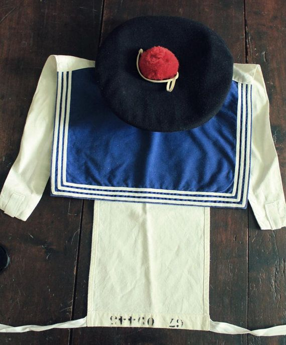 cheap for discount b77ca d0de7 Original WW1 Era French Navy Hat and sailor by HistoireDAntan