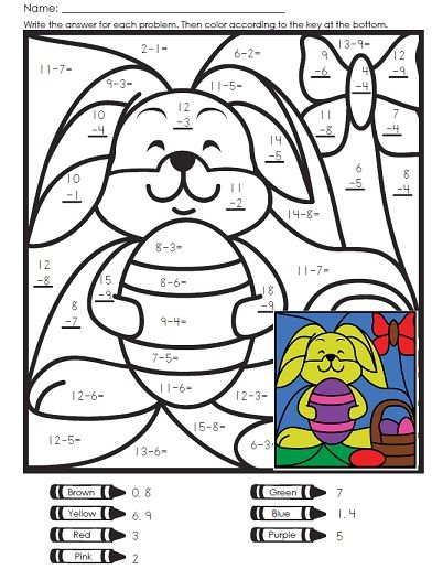 A Math Mystery Picture For Easter Easter Math Easter Math Worksheets Easter Worksheets