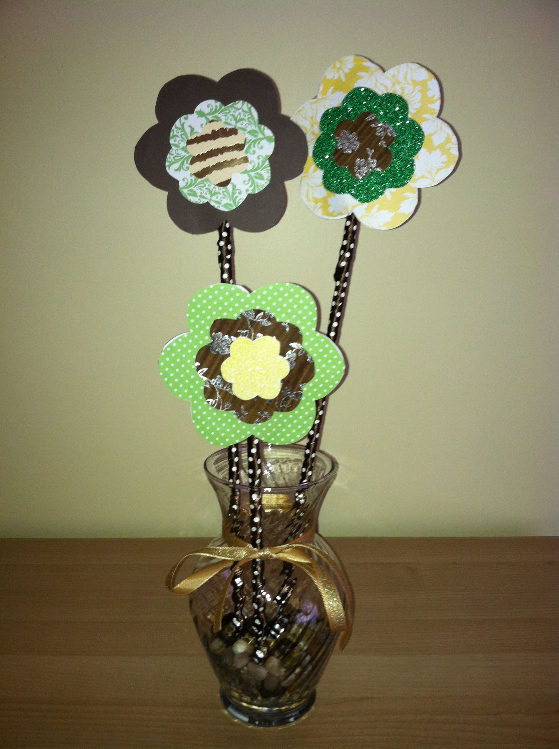 Centerpiece for any event. I made these for my sister's woodland themed baby shower :)