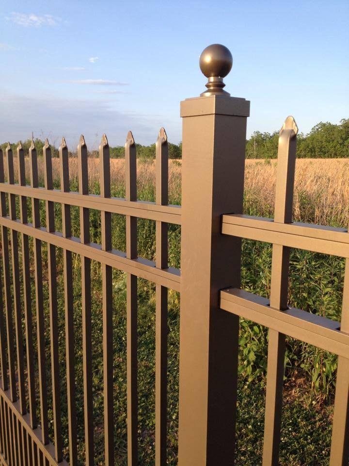 Beautiful Bronze Aluminum Fencing Back Yard Aluminum