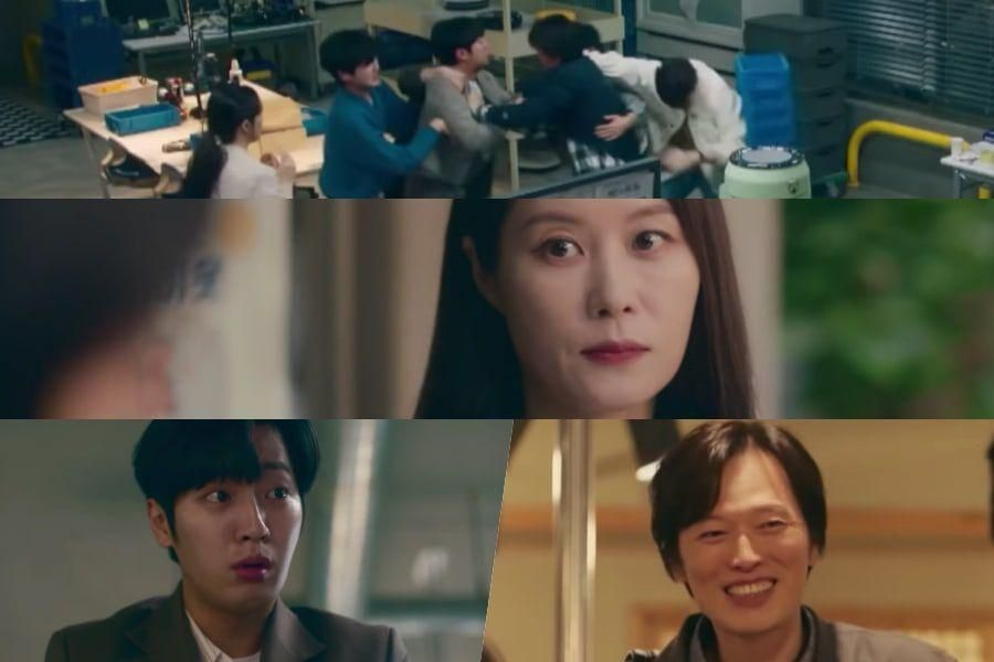 Watch: Moon So Ri Stops An Office Fight Between Lee Sang Yeob And Jung Jae Young In New MBC Drama