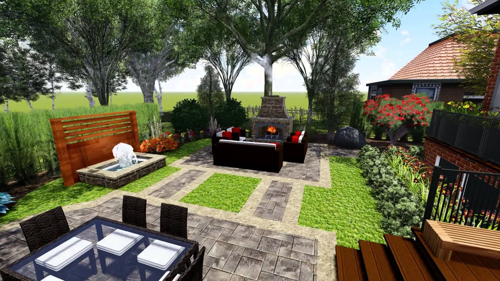 Landscaping Design Ideas For Backyard Concept Fair Proland Landscape Design Concept Small Backyard  Backyard . Decorating Inspiration