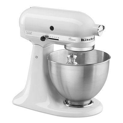 kitchenaid k45sswh classic series tilt head stand mixer white rh pinterest com