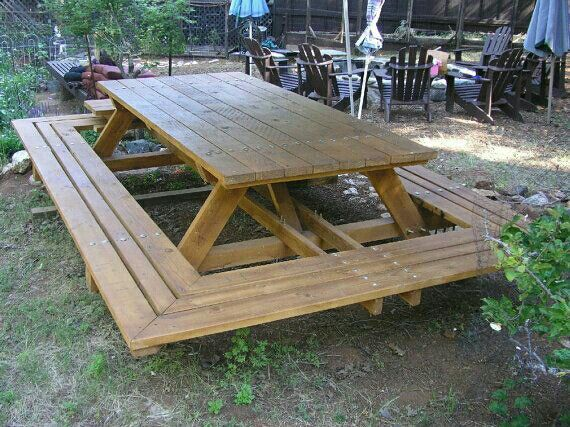 Wrap Around Picnic Table Bradnaylor Picnic Table Plans Picnic