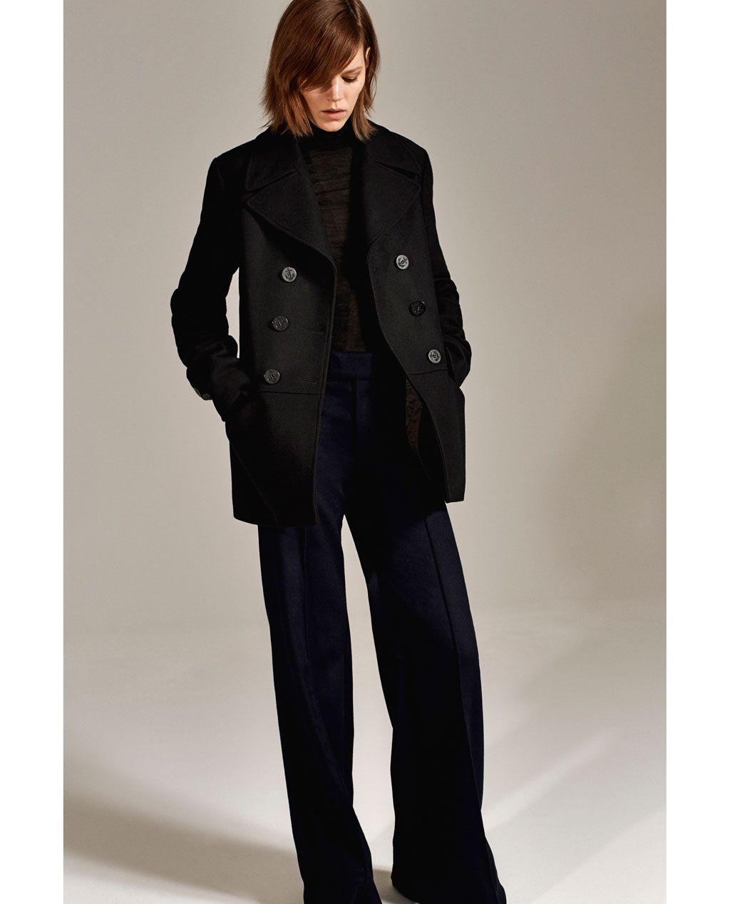 STUDIO DOUBLE BREASTED THREE QUARTER LENGTH COAT Coats