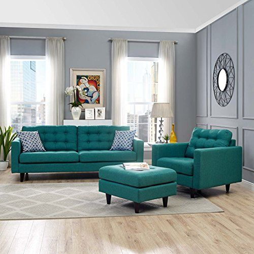 modway empress midcentury modern upholstered fabric sofa