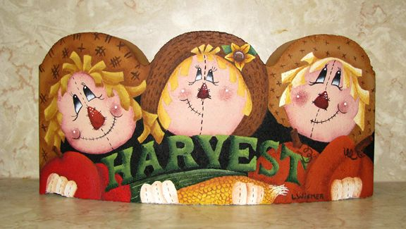 Harvest Party Acrylics On Curved Cement Scalloped Edger Design By Diane Marie Kellogg Cute With Images Brick Crafts Painted Bricks Crafts Painted Pavers