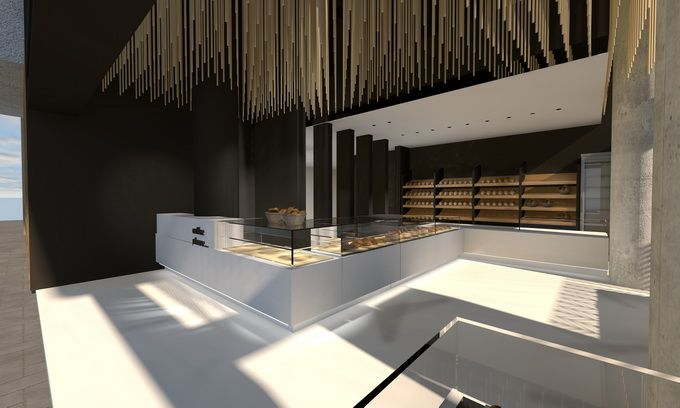 Bakery stores interior design in Athens | Interior Designer | iidsk Kyriakos Serefoglou