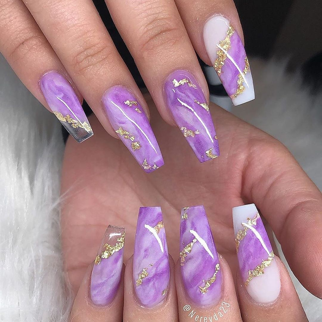 """💋 Perfect Nails 🌎 on Instagram: """"✨✨🌟✨✨🌟 Love these marble design! Which one would be yours, 1-2? 🤔  Nail Artist: @nereyda23 ✔️🌟🌟🌟 💝 Follow her for more gorgeous nail art…"""""""