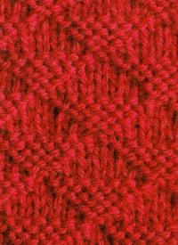 Strickvorlage Dreiecksmuster, die Maschenzahl muß durch 8 teilbar sein, damit der Musterrapport aufgeht, dazu kommt an jeder Seite eine Randmasche