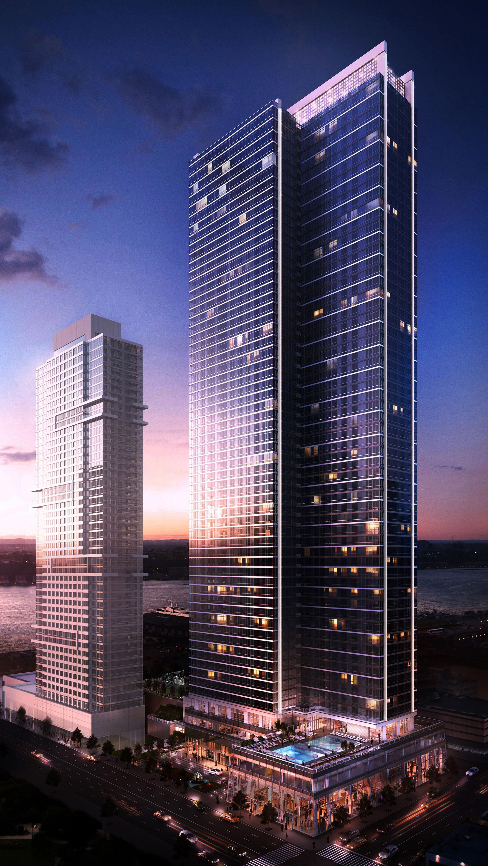 Sky Provides Ultimate Luxury In A New 71 Story Apartment Building Complete With Breathtaking N Skyscraper Architecture Residential Building New York Buildings