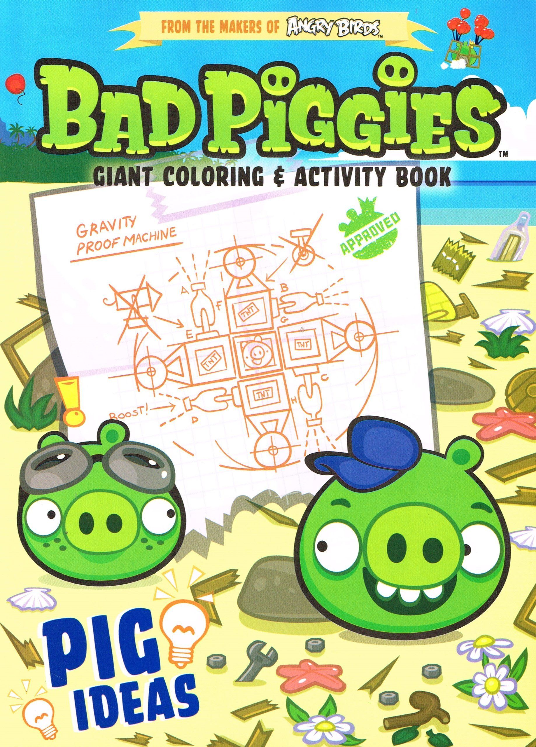 Angry Birds Go Coloring Page Angry Birds Bad Piggies Giant Coloring Activity Book Pig In 2020 Angry Birds Pigs Peppa Pig Coloring Pages Coloring Books