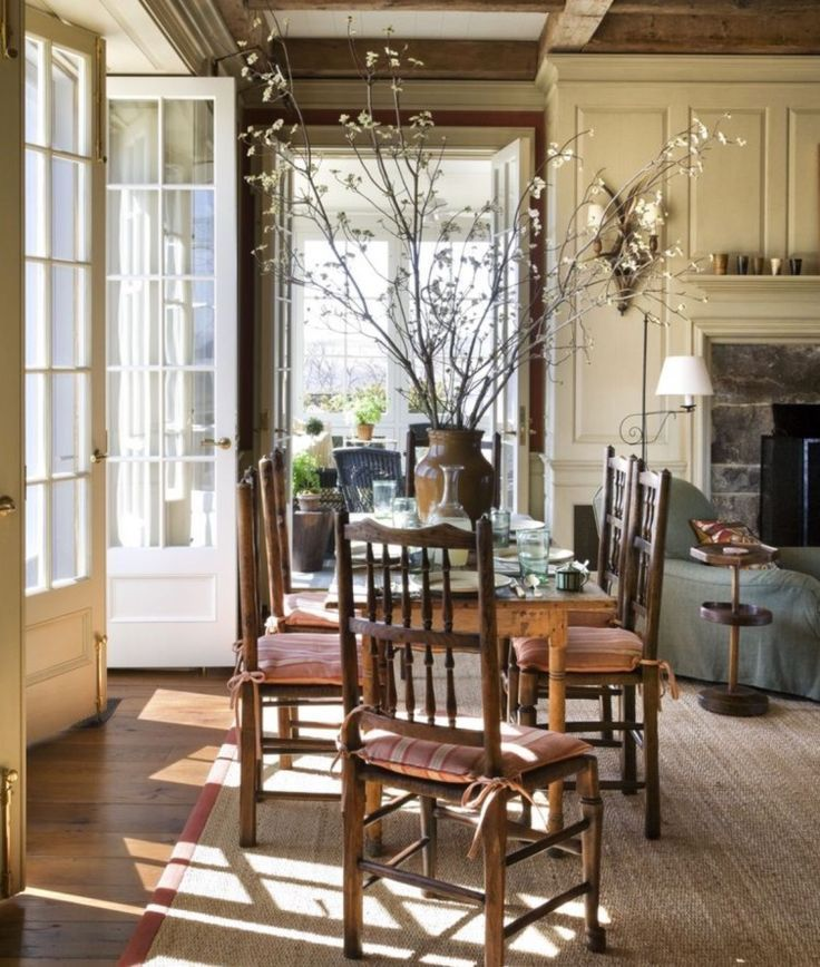 Cozy Kitchens With Fireplaces - Hadley Court blog post - from blog founder, Leslie Hendrix Wood