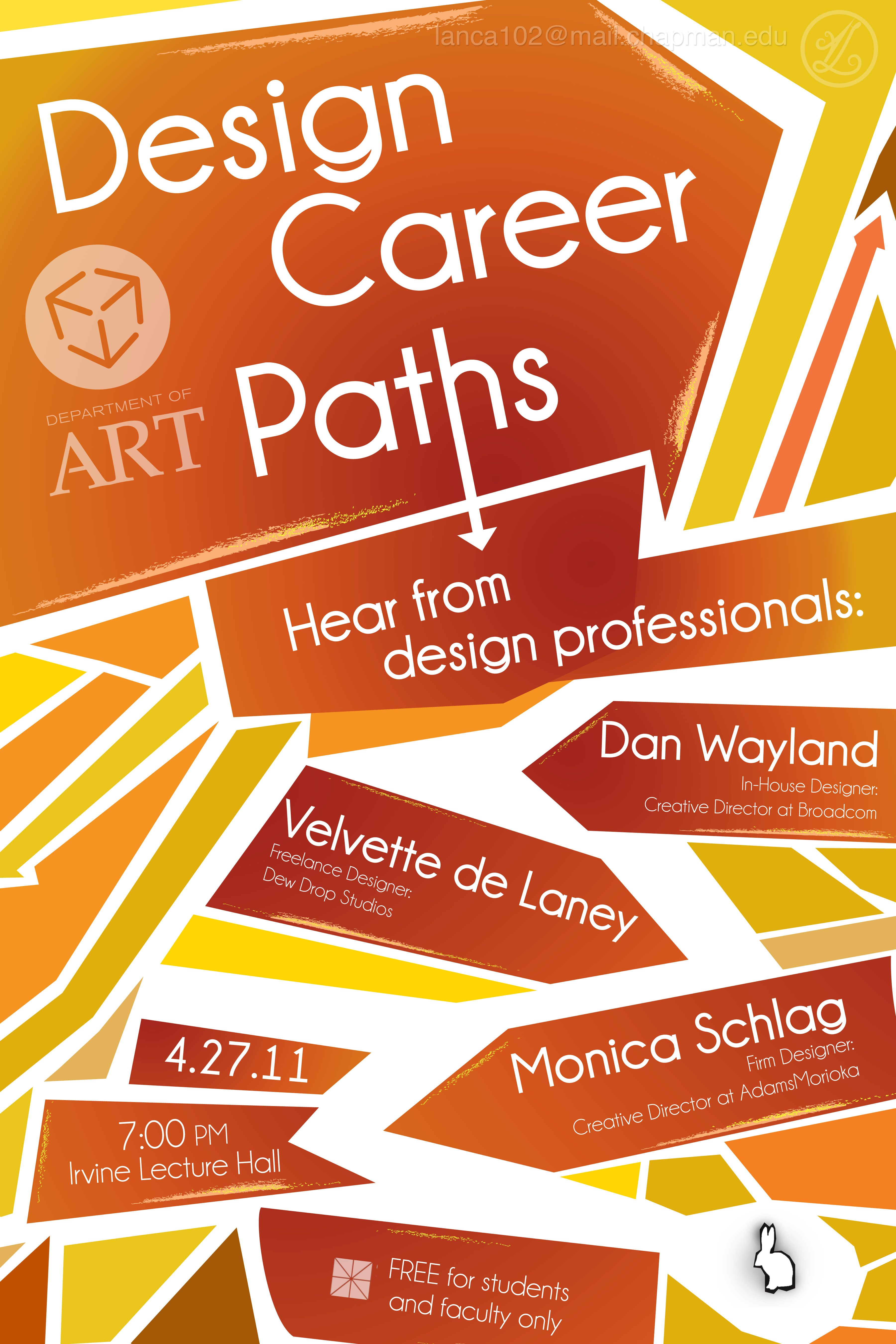 Poster design for technical events - A Poster Design Advertising A Graphic Design Lecture Event At Chapman University That Pulls From The Title Of The Event To Create A Figurative Design Theme