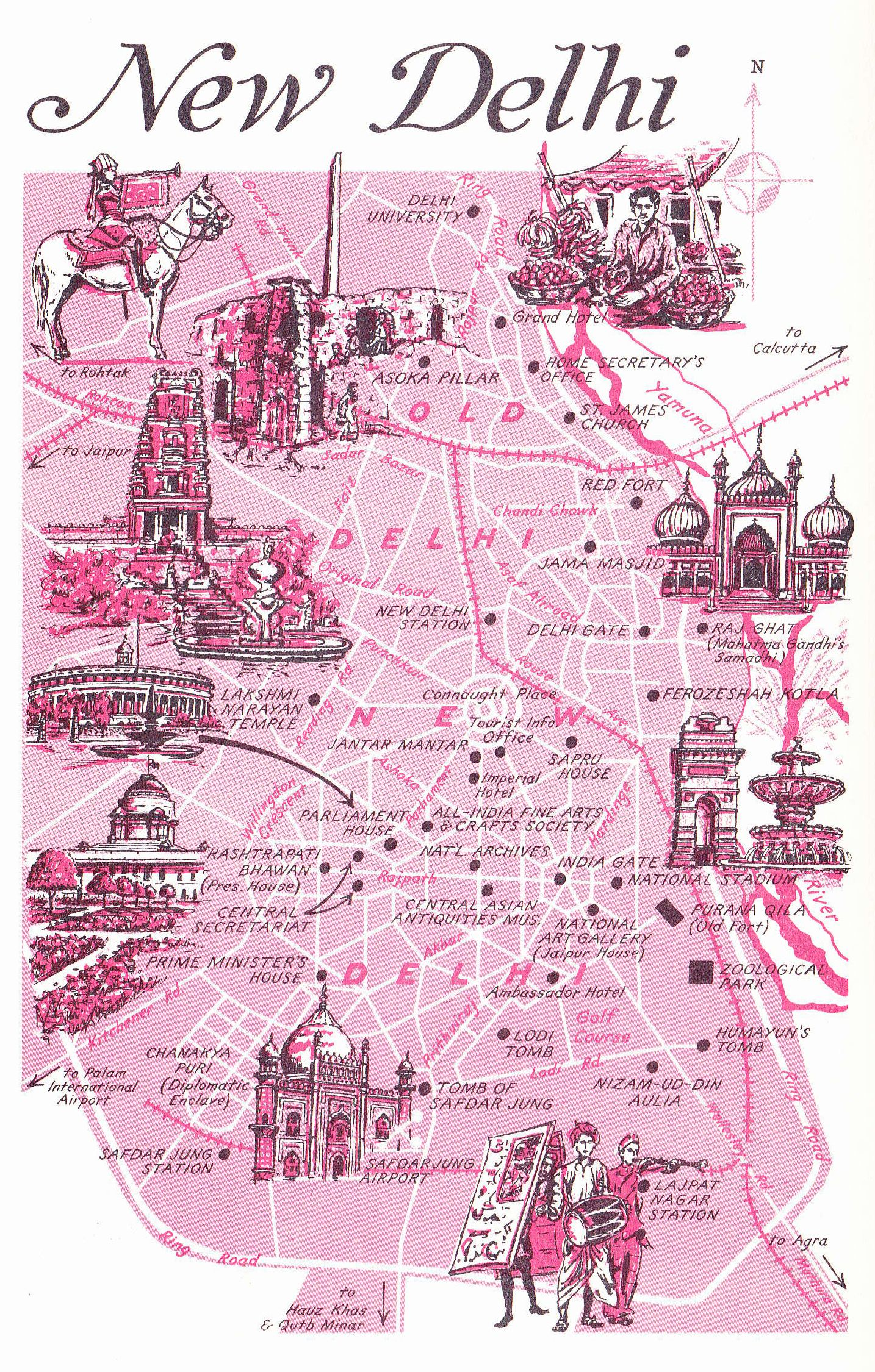 Old Map Of New Delhi India Wan Der Lust Won Der Luhst A Strong