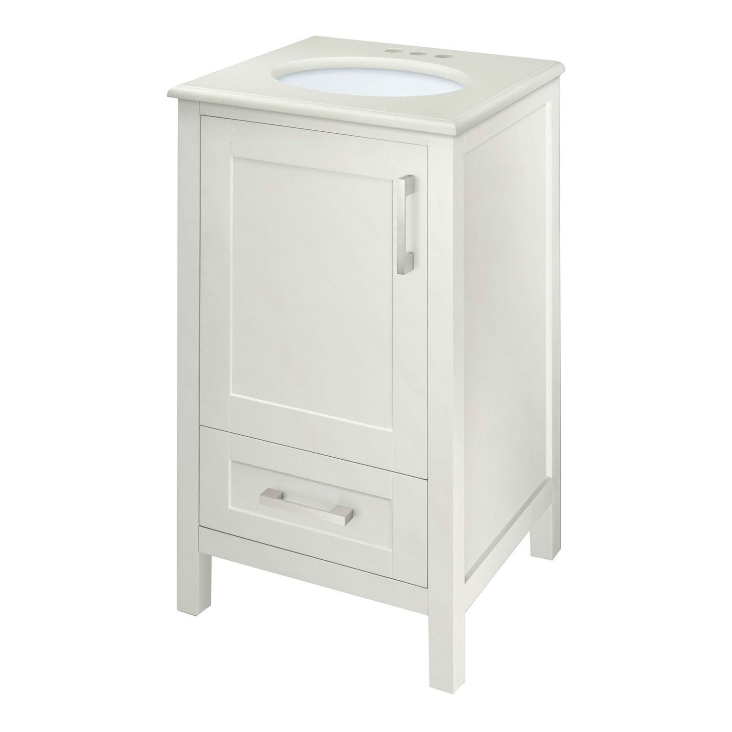Contemporary 20 inch Bathroom Vanity Set with Single Oval