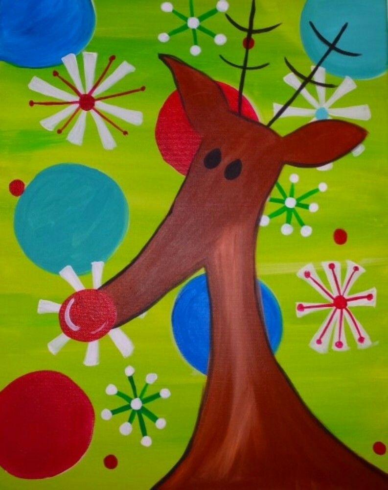 Pin By Sarah Warvi On Christmas Painting Ideas Paint And Sip Holiday Painting Christmas Paintings