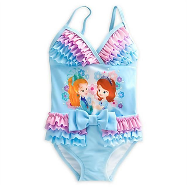 a18ea5897f20 Disney Sofia the First Deluxe Swimsuit for Girls - Size 4 NWT ...