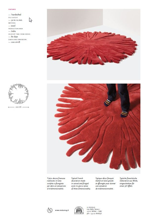 pompon tec #contemporaryrug http://www.nodusrug.it/en/rugs_collections_intro.php