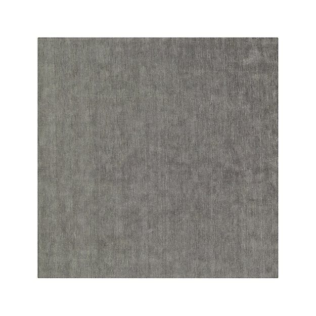 Baxter Grey Wool Rug 8 Square