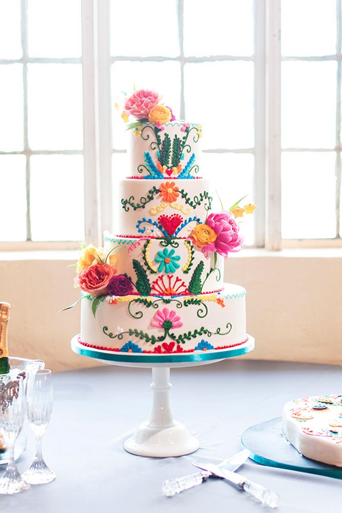 Mexican Wedding Cakes.42 Exciting Colourful Mexican Wedding Cake Ideas Animal