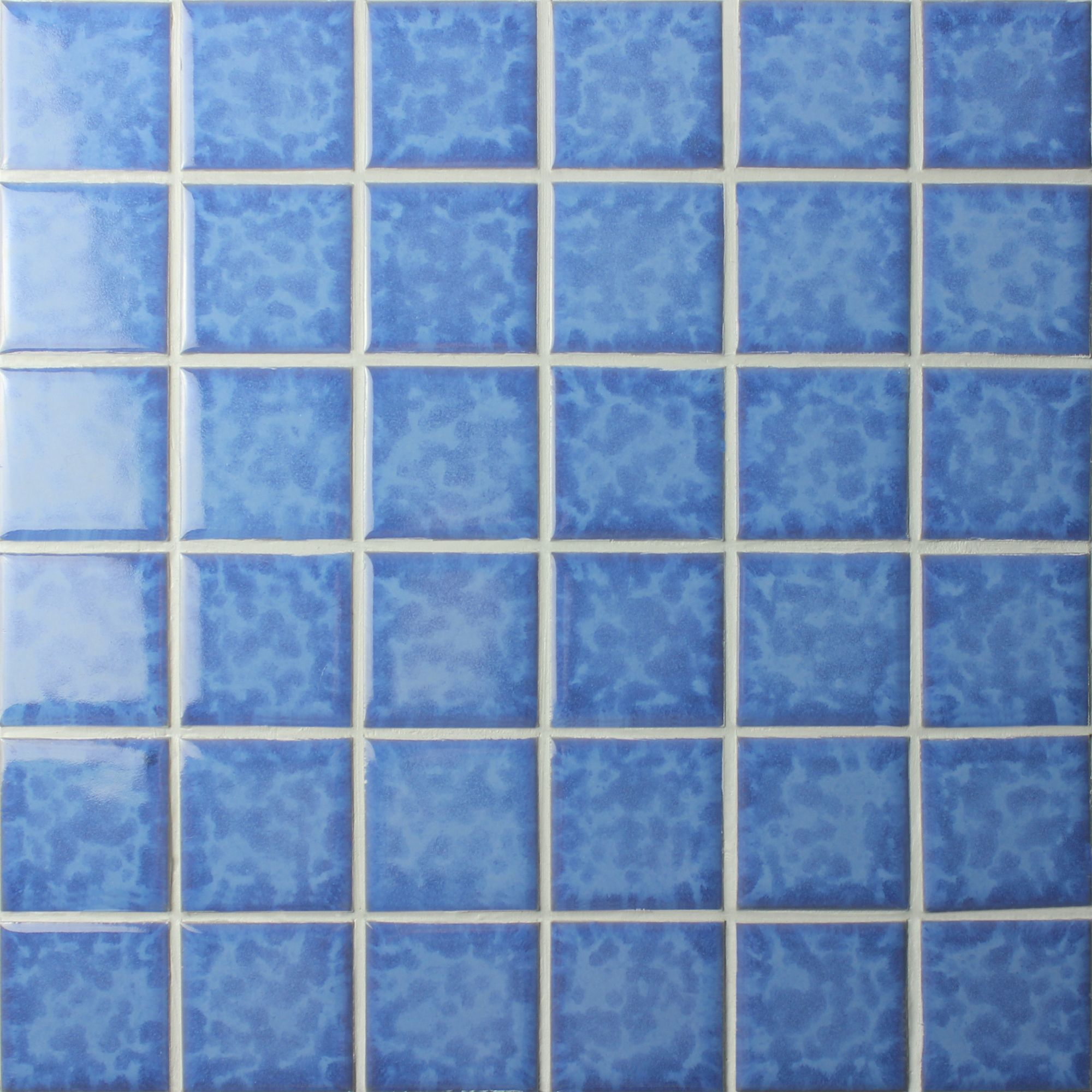 Smooth Texture And High Gloss Bluwhaletile Blue Mosaic Tiles Are