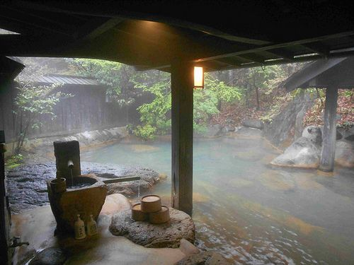 mmmm steamy lovely bath house!