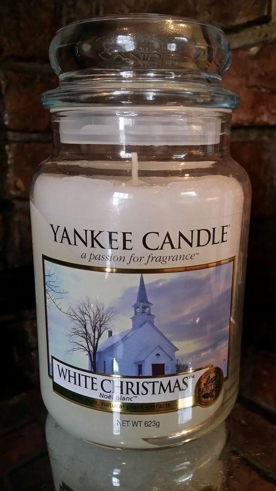 yankee candle festive rare large jar vhtf white christmas usa treasure - Yankee Candle White Christmas