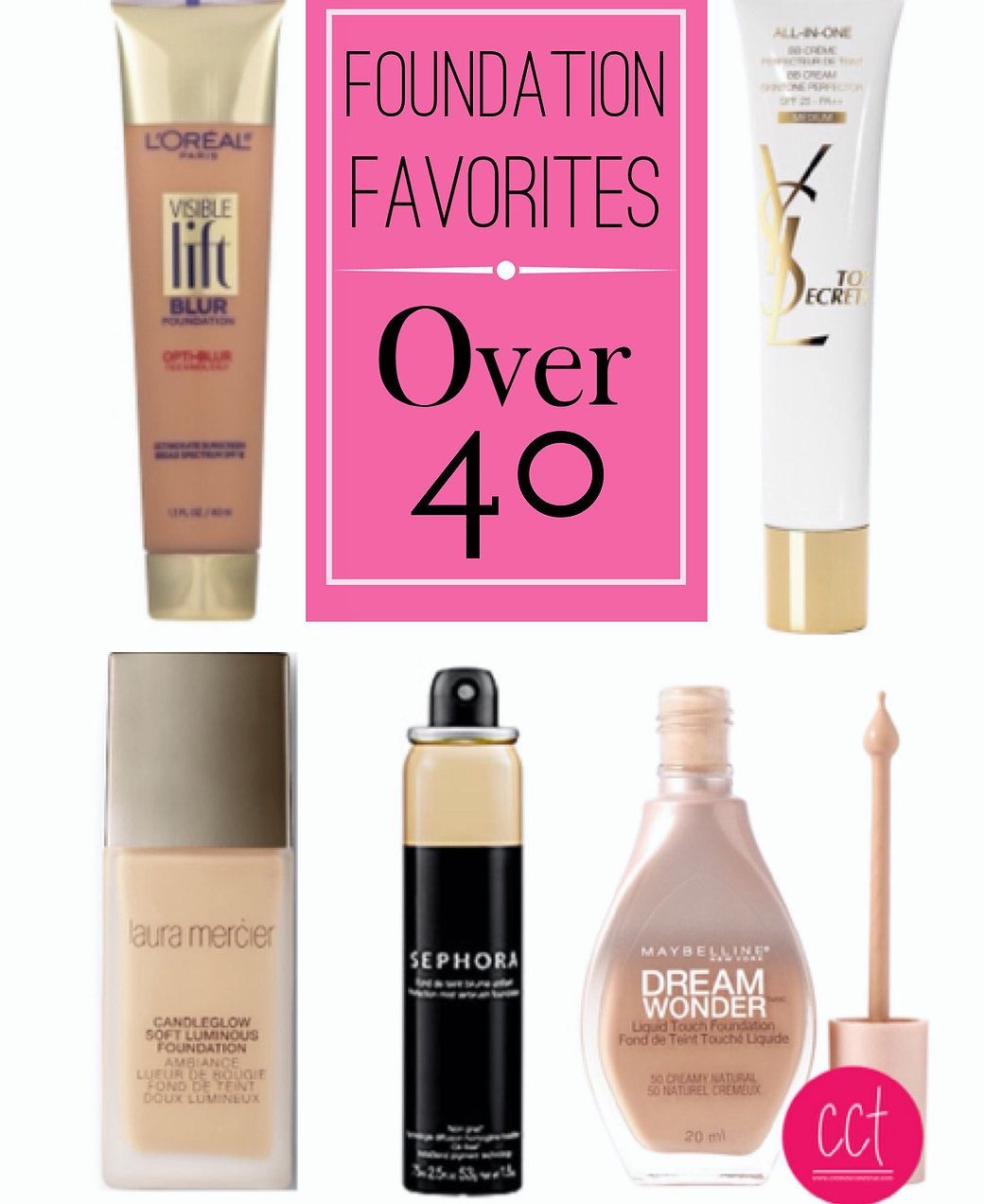 Foundation can actually make you look older. Three Tips