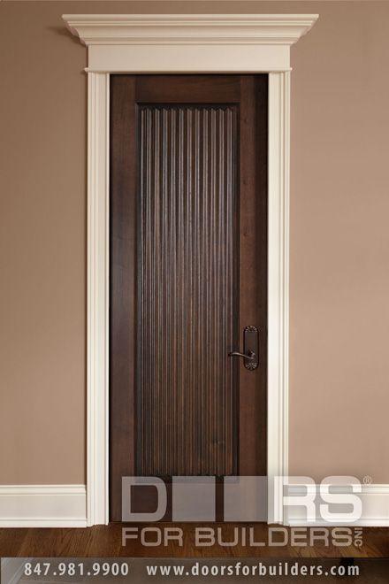 Custom Wood Interior Doors Single Door Hand Carved Verticla