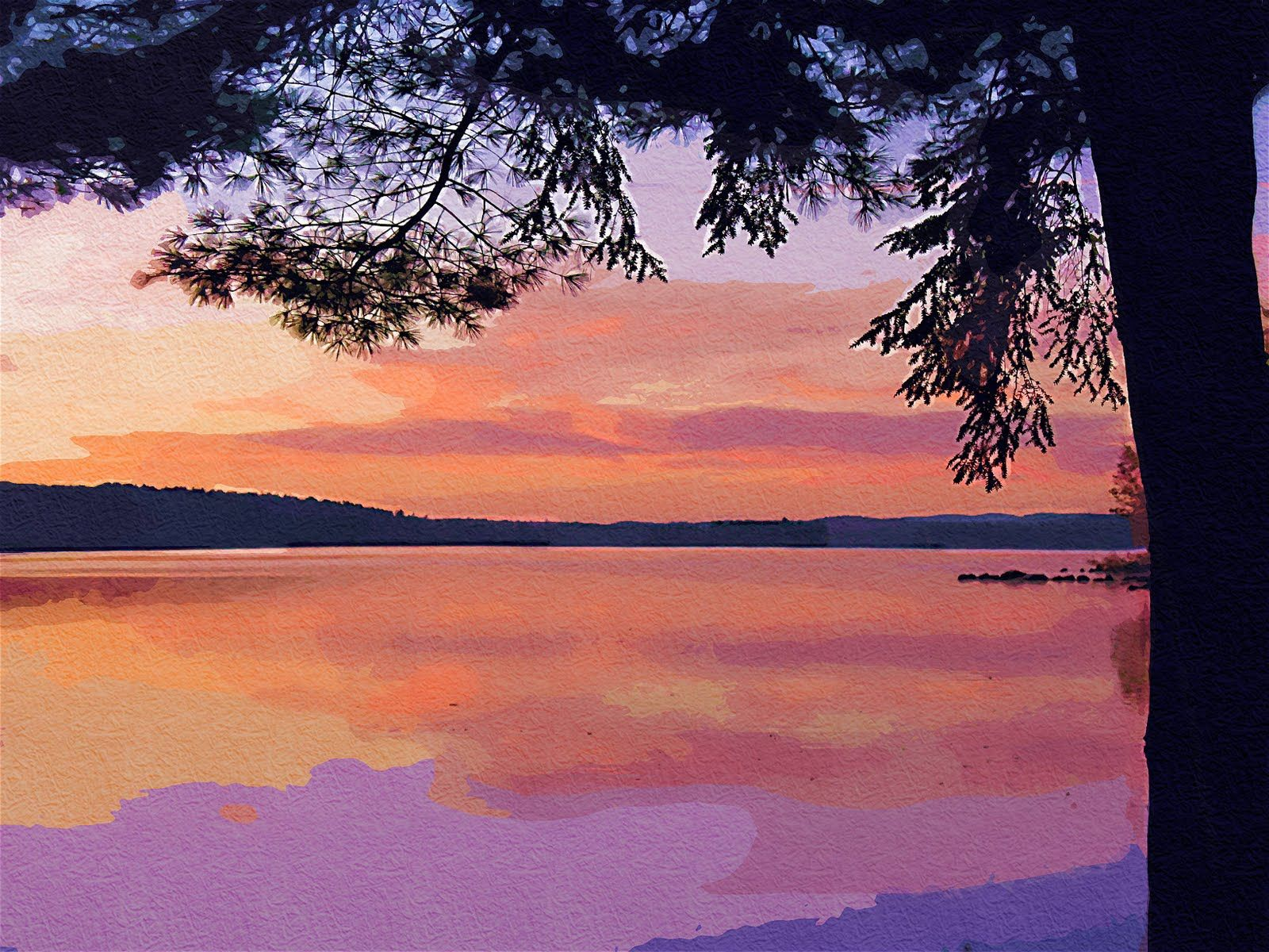 Easy Watercolor Paintings Of Sunsets The painting is not exactly ...