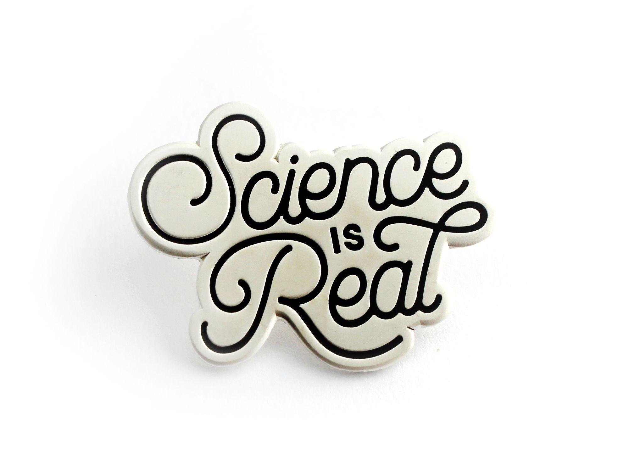 Science is Real Enamel Pin