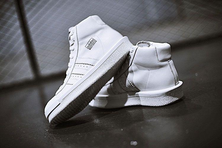 Rick Owens x adidas Mastodon Pro Triple White shoes to